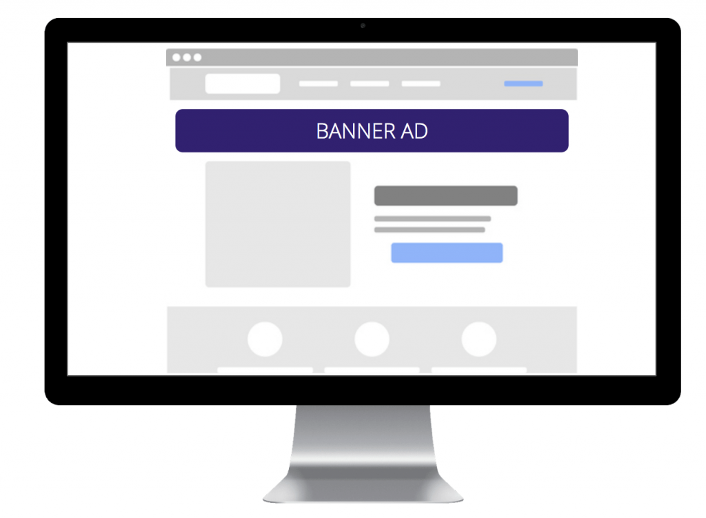 Banner Ad on Desktop Computer