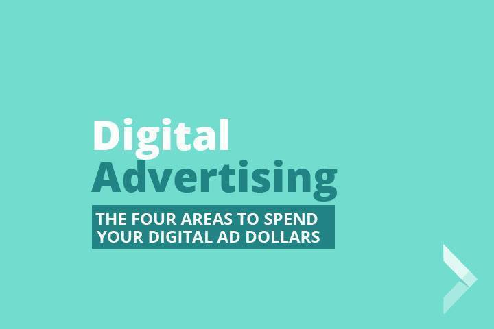 Picture that says Four Ways to Spend Digital Ad Dollars