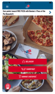 ada compliance Dominos Pizza App DBS Interactive