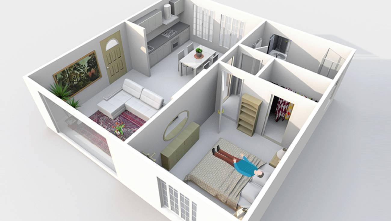 Cut-away View of Living Quartrs