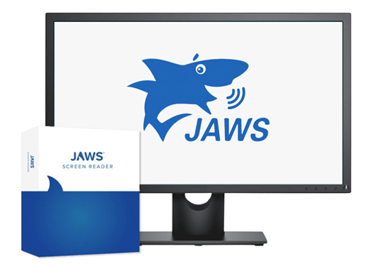 a graphic promoting the JAWS screen reader