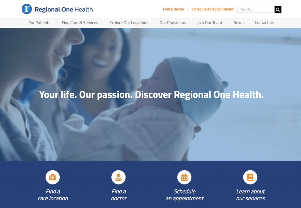 Healthcare Website Example - Engaging Website Videos - Regional One Health