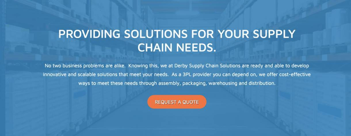 Derby Supply Chain Solutions request quote call-to-action