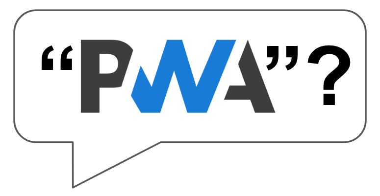 graphic of the term PWA with question mark