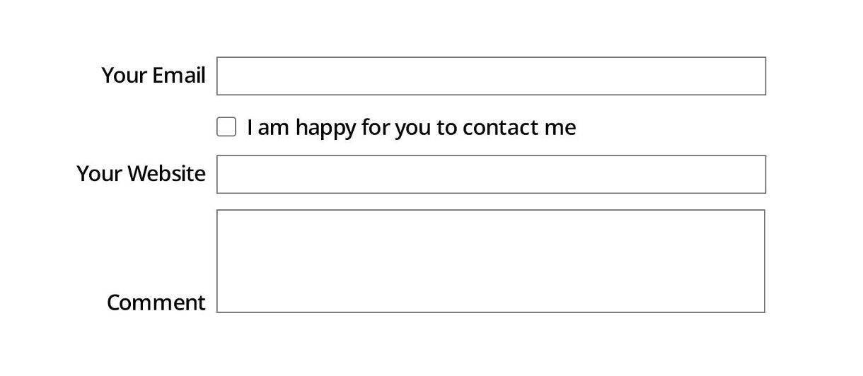 good accessibility Form field example