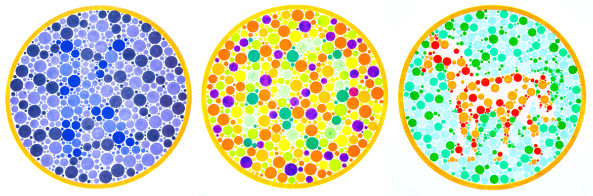 Examples of colorblind images for accessibility