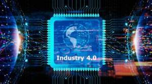 computer chip with industry 4.0 written on it