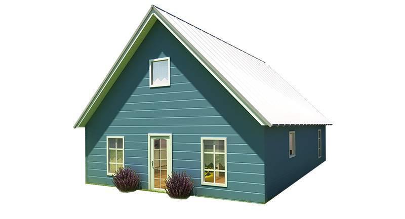 Illustration of the Cottage model in color