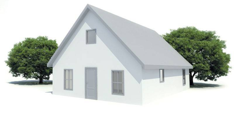 Illustration of the Cottage model in white