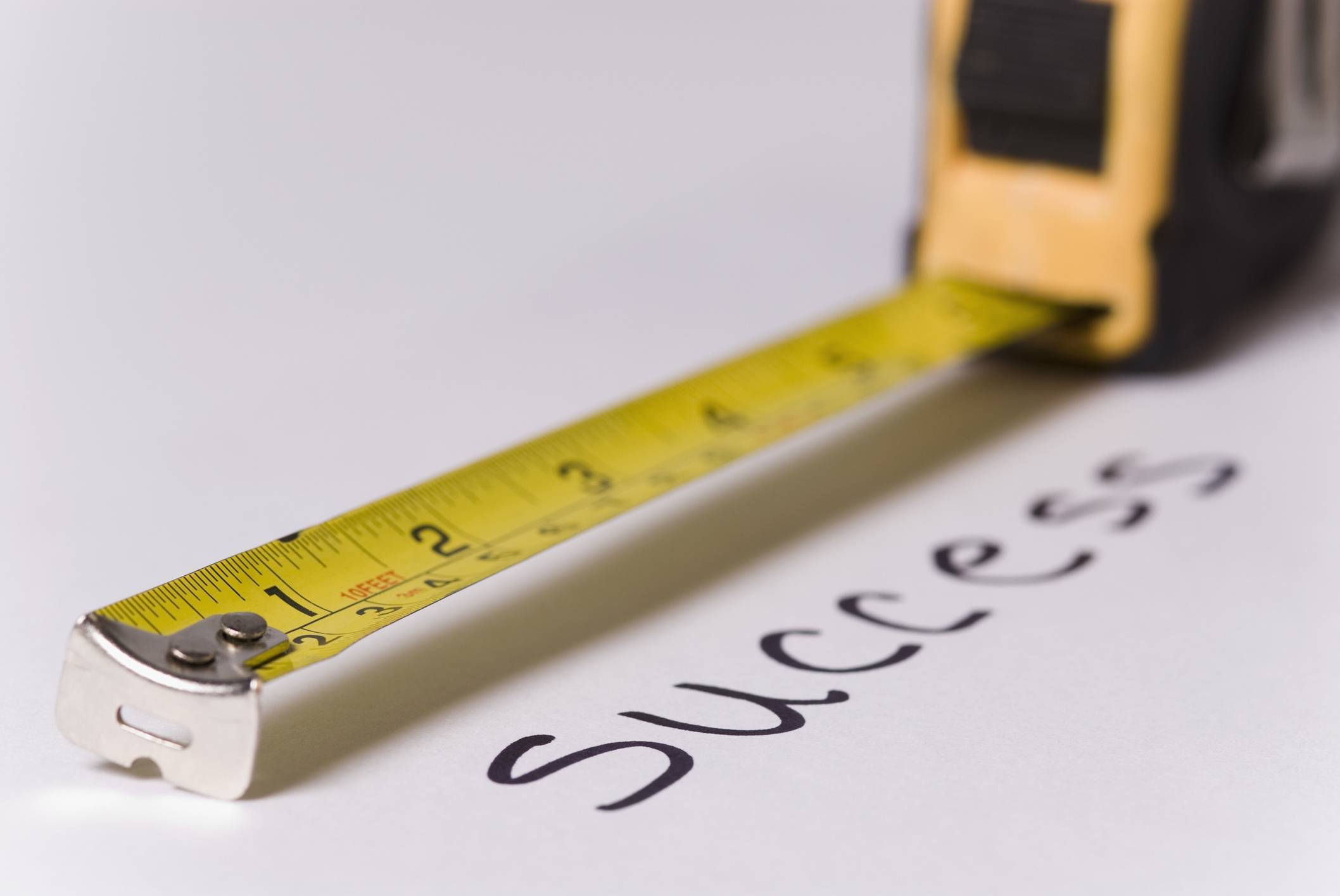 image of tape measure - B2B website sales funnels have measurable KPIs