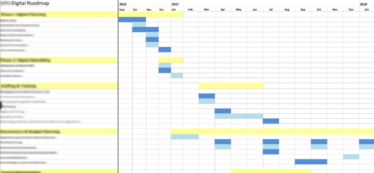 Example of Digital Audit 2 Year Timeline