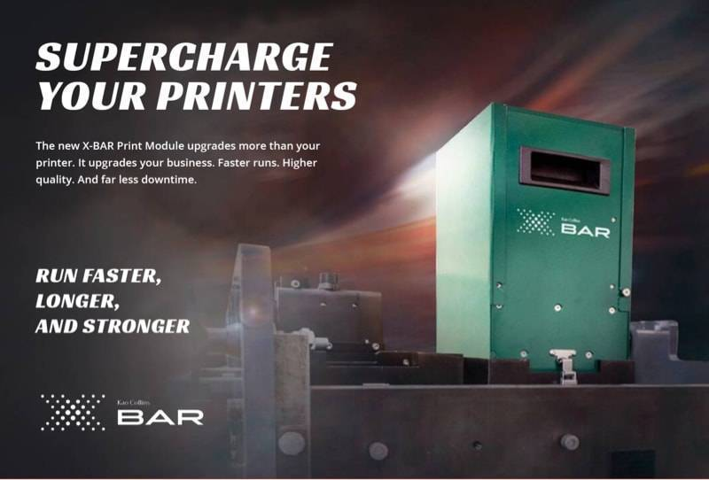 ad example designed by DBS Interactive promoting new printing technology XBAR