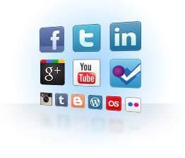 Graphic of various social media platforms