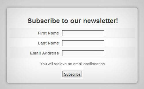 Graphic of an email subscription opt in