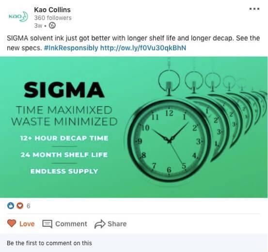 Sigma social media post